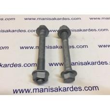 CIVATA ve SOMUN 95 mm Anahtar Baş Flanşlı Çelik Norm Marka Türk Malı.