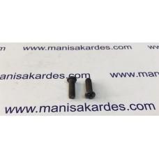 CIVATA - M 5x18 YILDIZ Silindir Baş Siyah Renk Türk Malı. (M518)