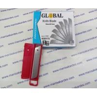 Maket Bıçağı Ucu, İthal Global Marka Paket 10 Adet Fiyatı (Falçata)