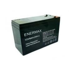 Akü 12 Volt 9 Amper 20hr Yatay Tip Enermax Marka İthal Alarm Güç Kaynakları ve Oyuncak Araba Uyumlu (akü129yen)