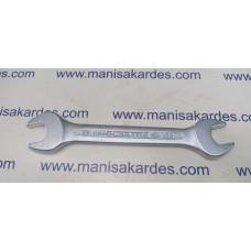 Anahtar 12x13 İki Açık Ağız Düz Kısa Boy İzeltaş Marka Türk Malı