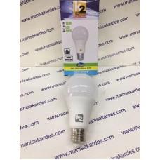 AMPUL 220 VOLT 15 WATT  BEYAZ RENK LED K2 MODEL (160/260 Volt) İTHAL...