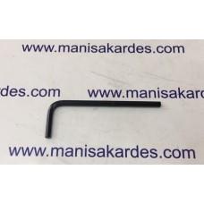 ALLEN ANAHTAR L - 3 mm Kısa Tip Rıco Cr-V Marka Siyah Renk (Al3)