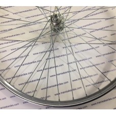 JANT ARKA 26x200 BİSİKLET 2 mm 36 Telli Çelik Jant Bilyalı Göbekli Akortlu Komple