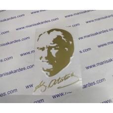 Atatürk Portresi 14x9.5 cm Altın Renk