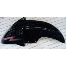 Ön Çamurluk Kanuni Windy  CG 125 Motosiklet Uyumlu Siyah Renk Bağlantı Aparatlı