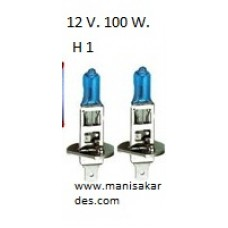 OTOMATİV FAR AMPUL 12 V. 100 W. Beyaz Renk H1 5300K / E13 (A12100h1)